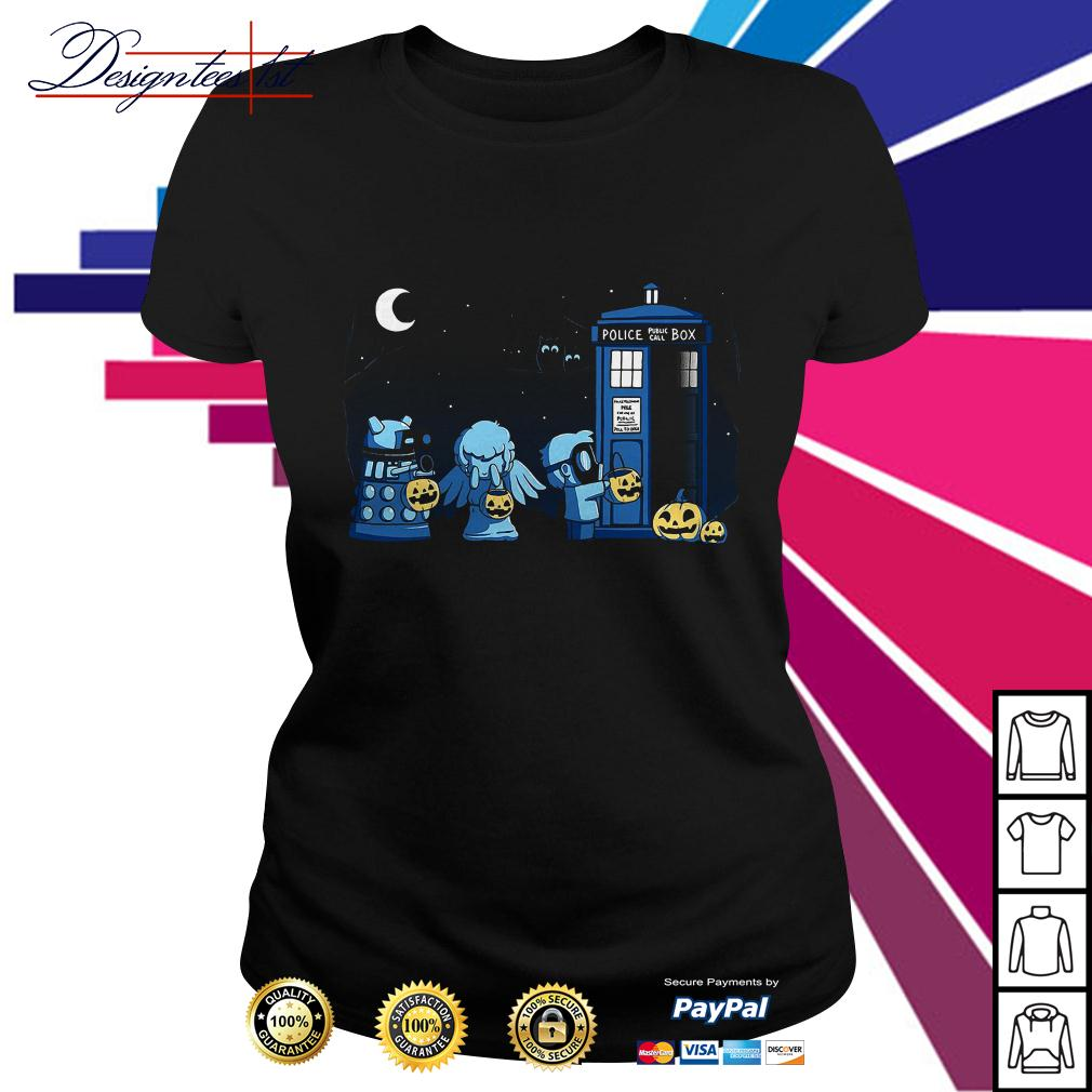 Doctor who a Who Halloween Ladies Tee