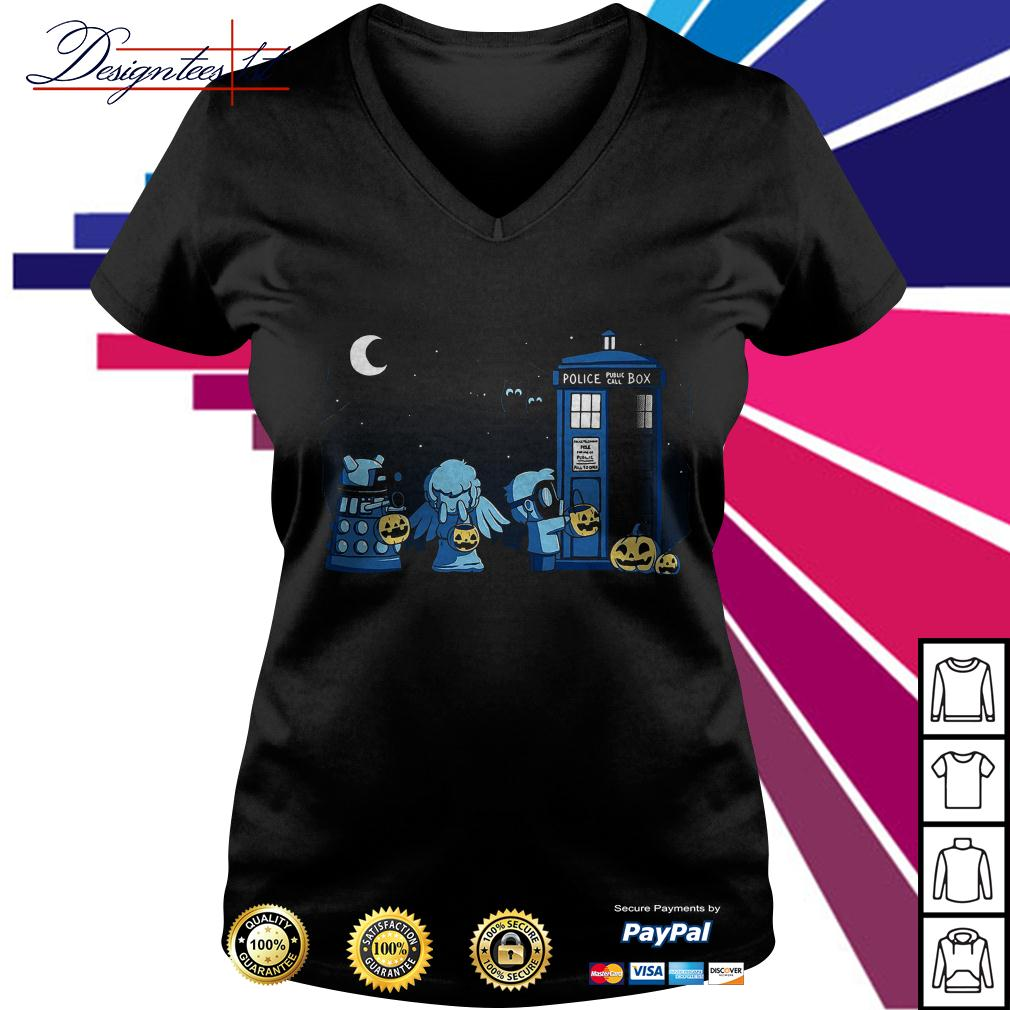 Doctor who a Who Halloween V-neck T-shirt
