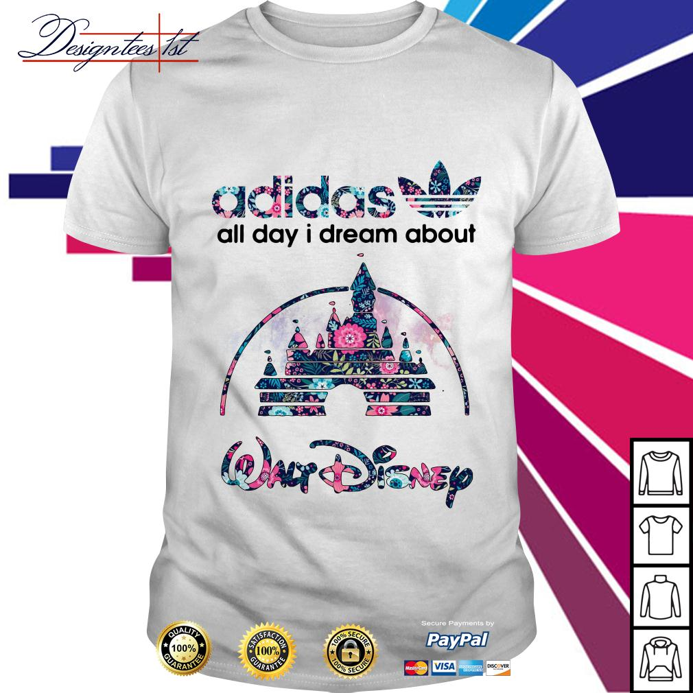 Floral Adidas all day I dream about Walt Disney shirt