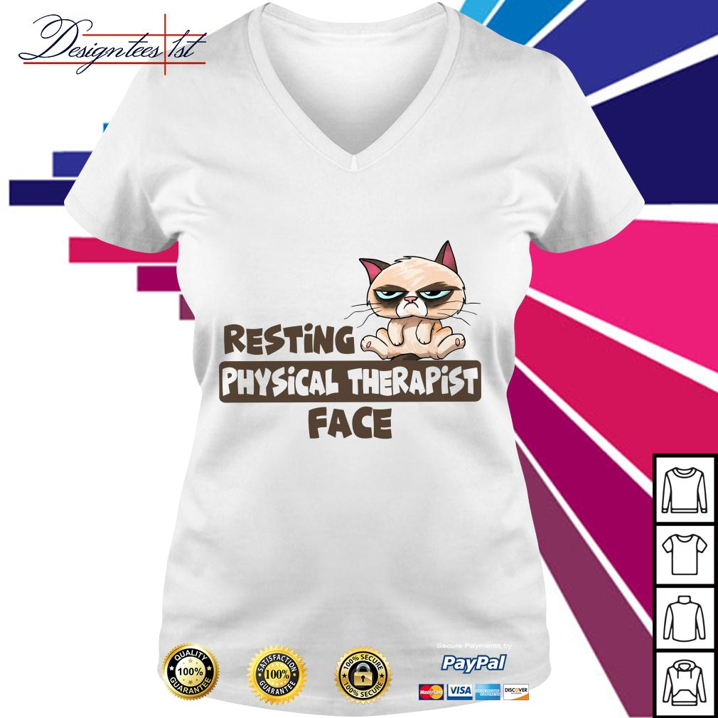 Grumpy resting physical therapist face V-neck T-shirt
