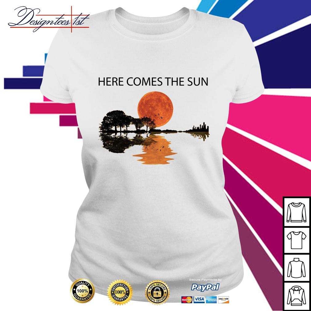 Guitar here comes the sun Ladies Tee
