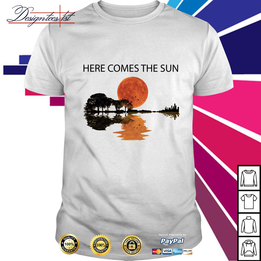 Guitar here comes the sun shirt
