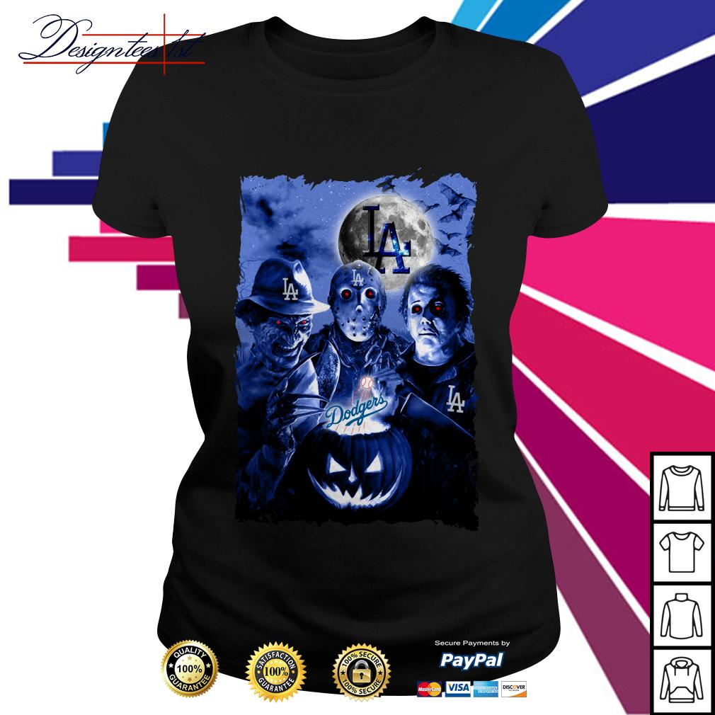 Halloween Los Angeles Dodgers horror characters shirt