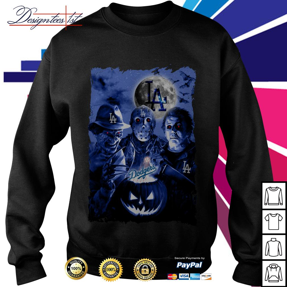 Halloween Los Angeles Dodgers horror characters Sweater