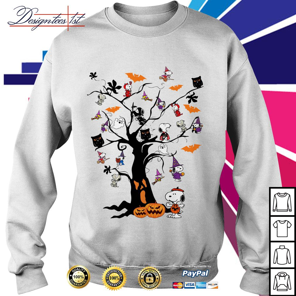 Halloween Snoopy pumpkin tree Sweater