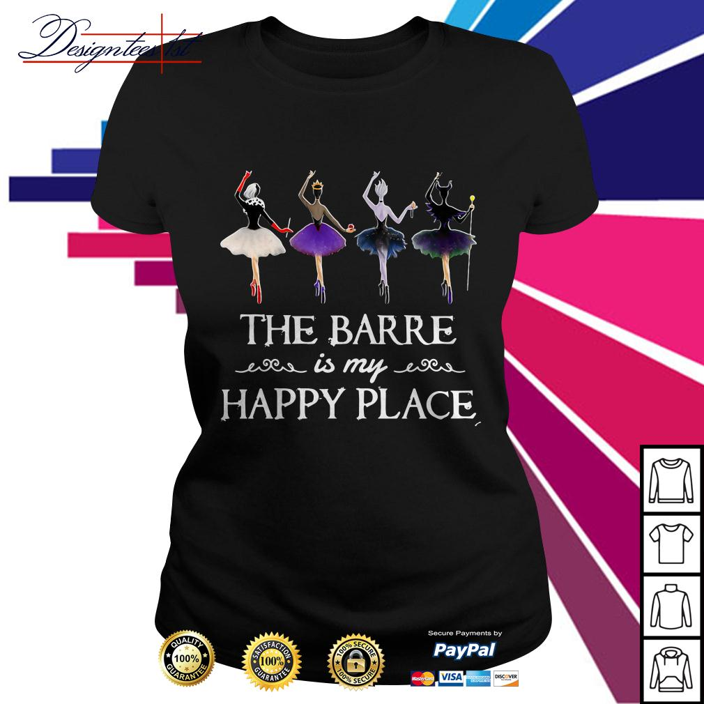 Hocus Pocus the barre is my happy place Ladies Tee