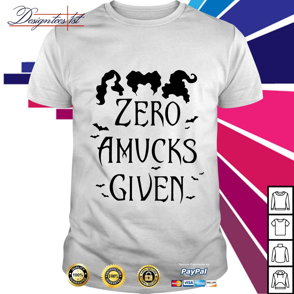 Hocus Pocus zero amucks given shirt