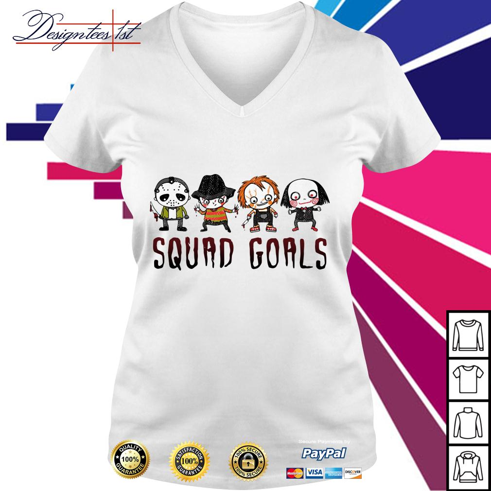 Horror squad goals V-neck T-shirt