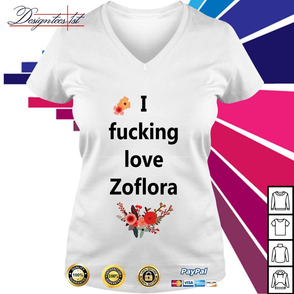 I fucking love Zoflora V-neck T-shirt