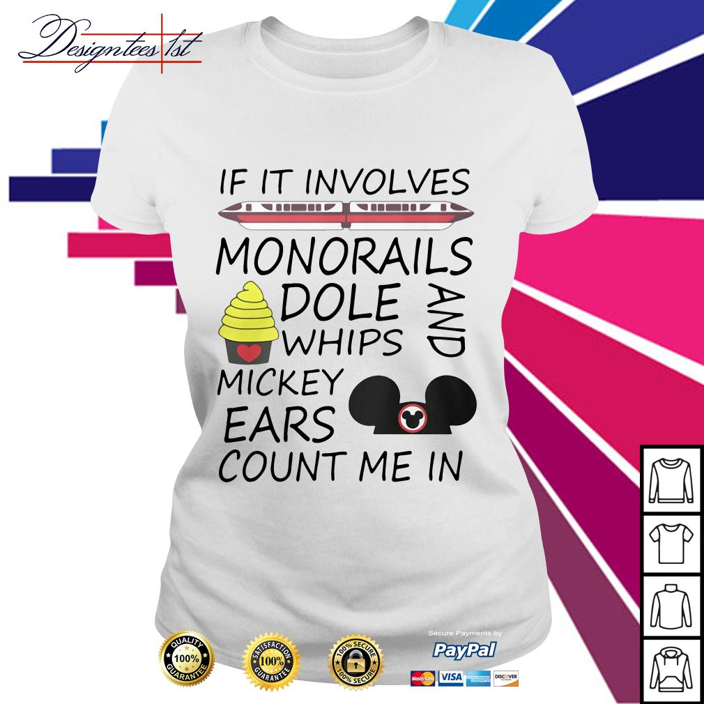 If it involves monorails dole whips and Mickey ears count me in Ladies Tee