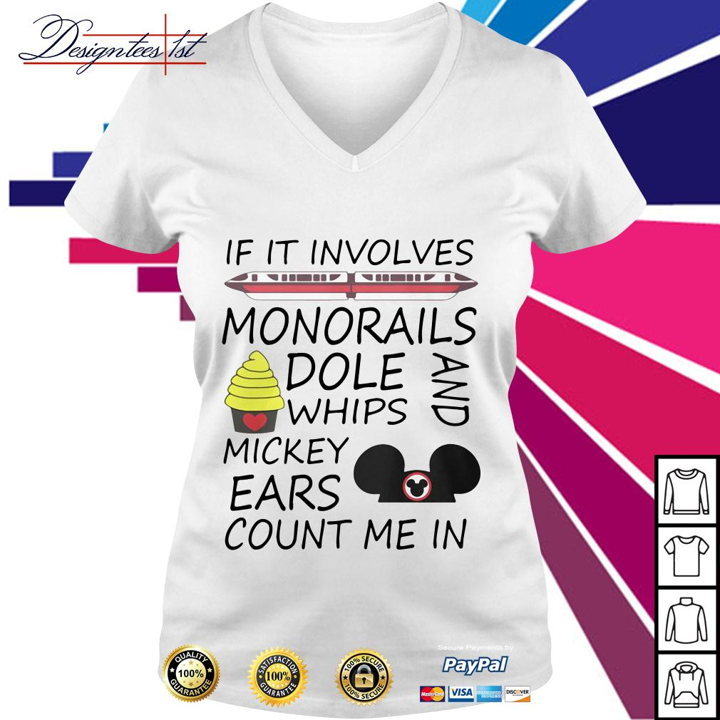If it involves monorails dole whips and Mickey ears count me in V-neck T-shirt