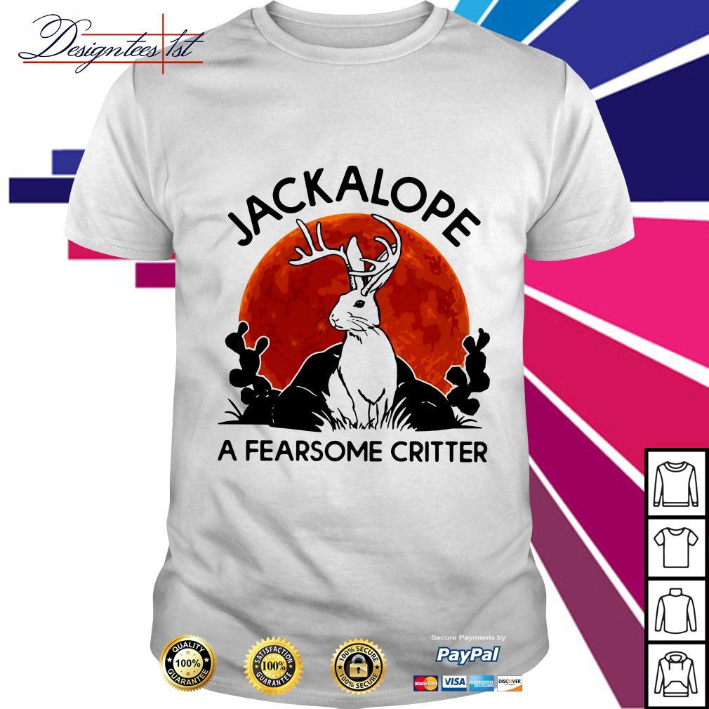 Jackalope a fearsome critter sunset shirt