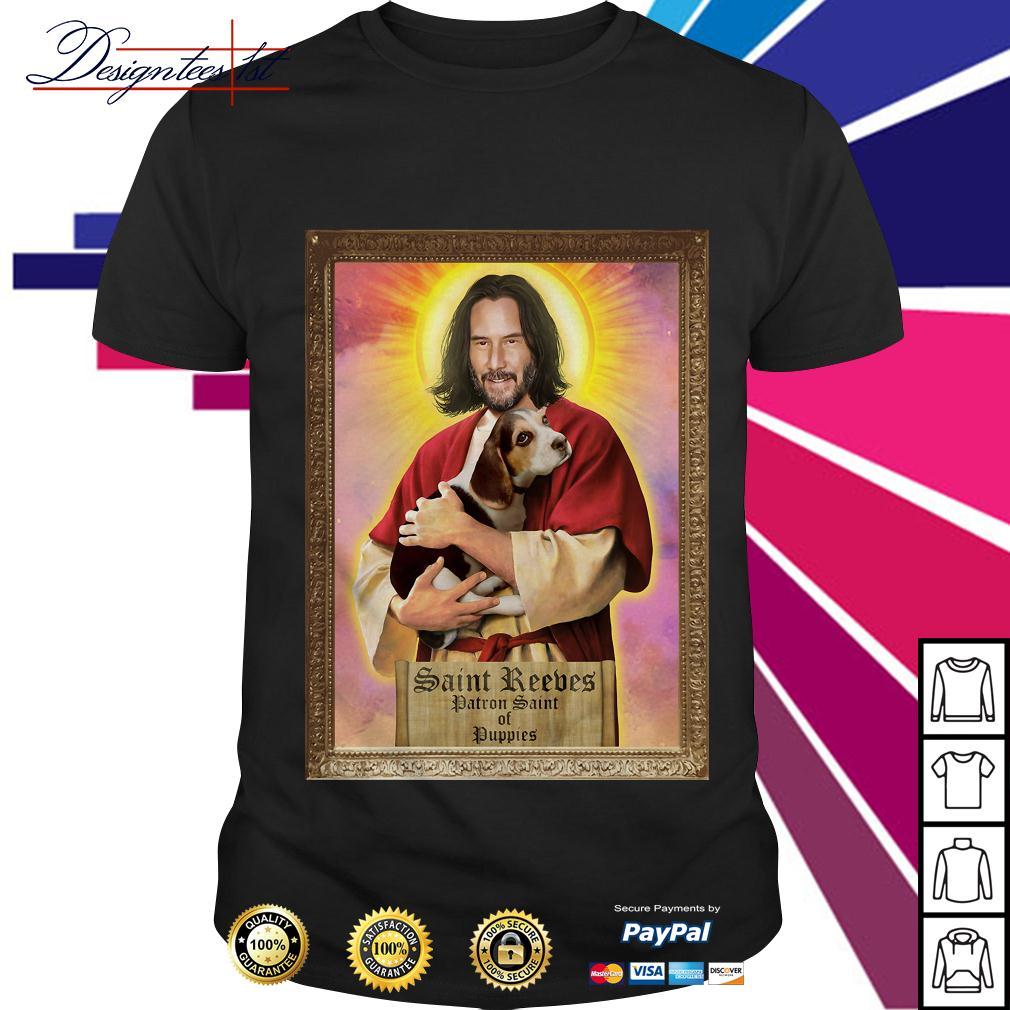 Keanu Reeves Saint Reeves patron saint of puppies shirt