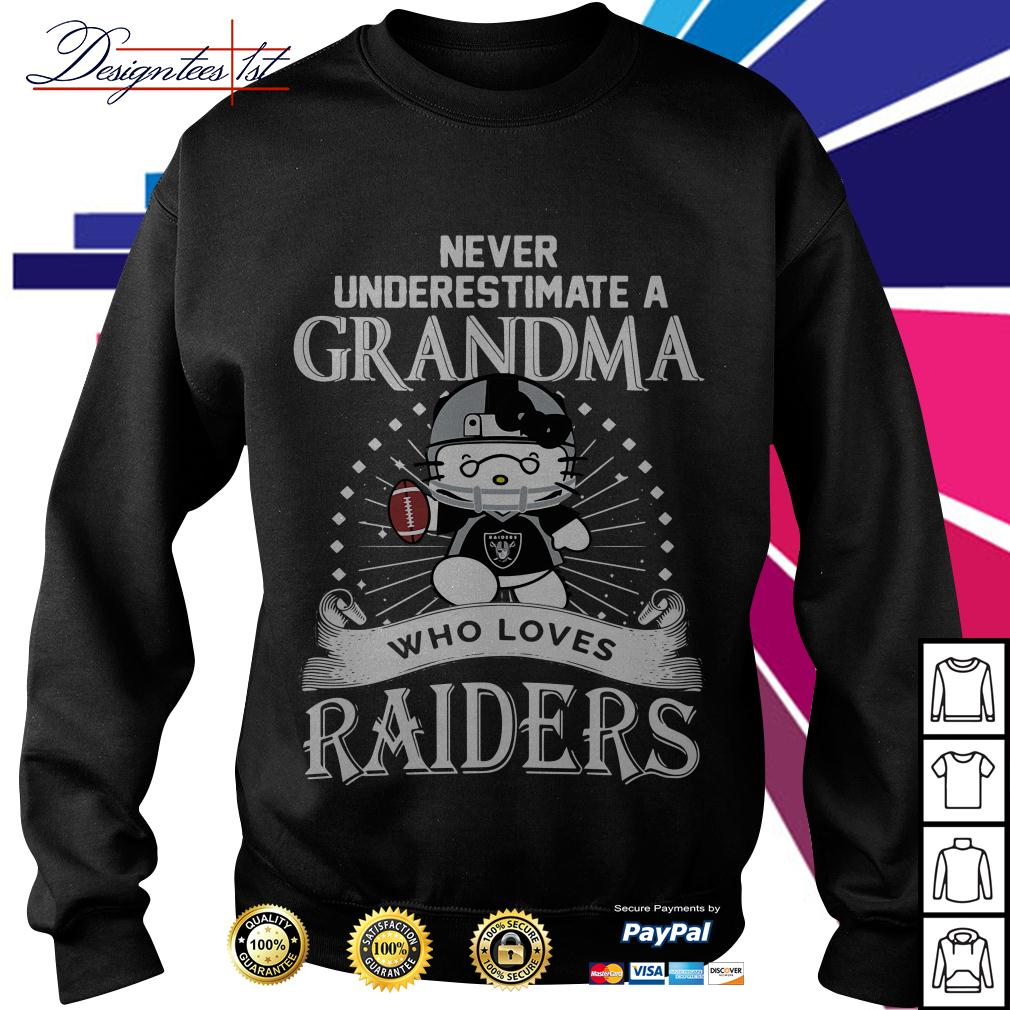 Kitty never underestimate a grandma who loves Raiders Sweater