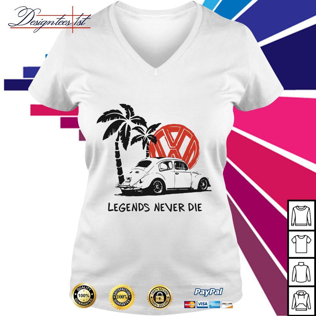 Legends never die V-neck T-shirt