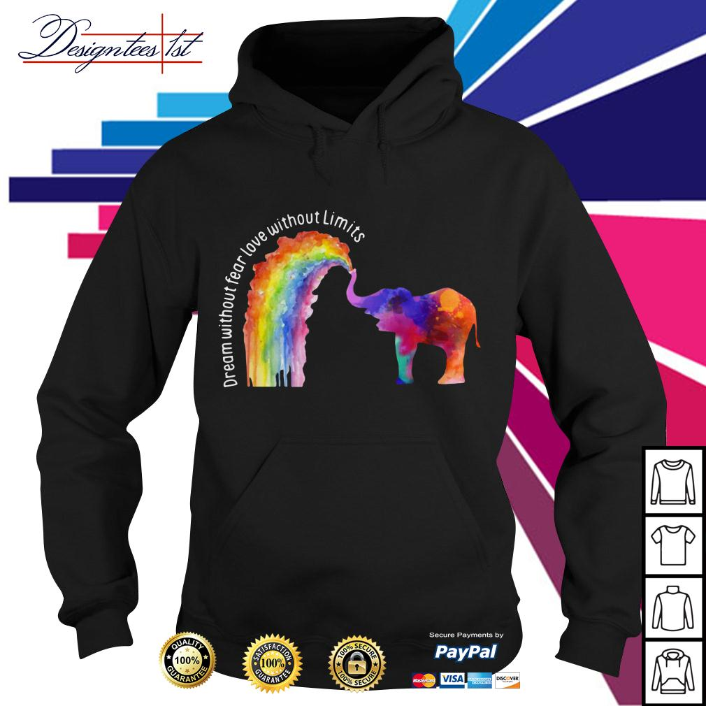 LGBT elephant dream without fear love without limits Hoodie