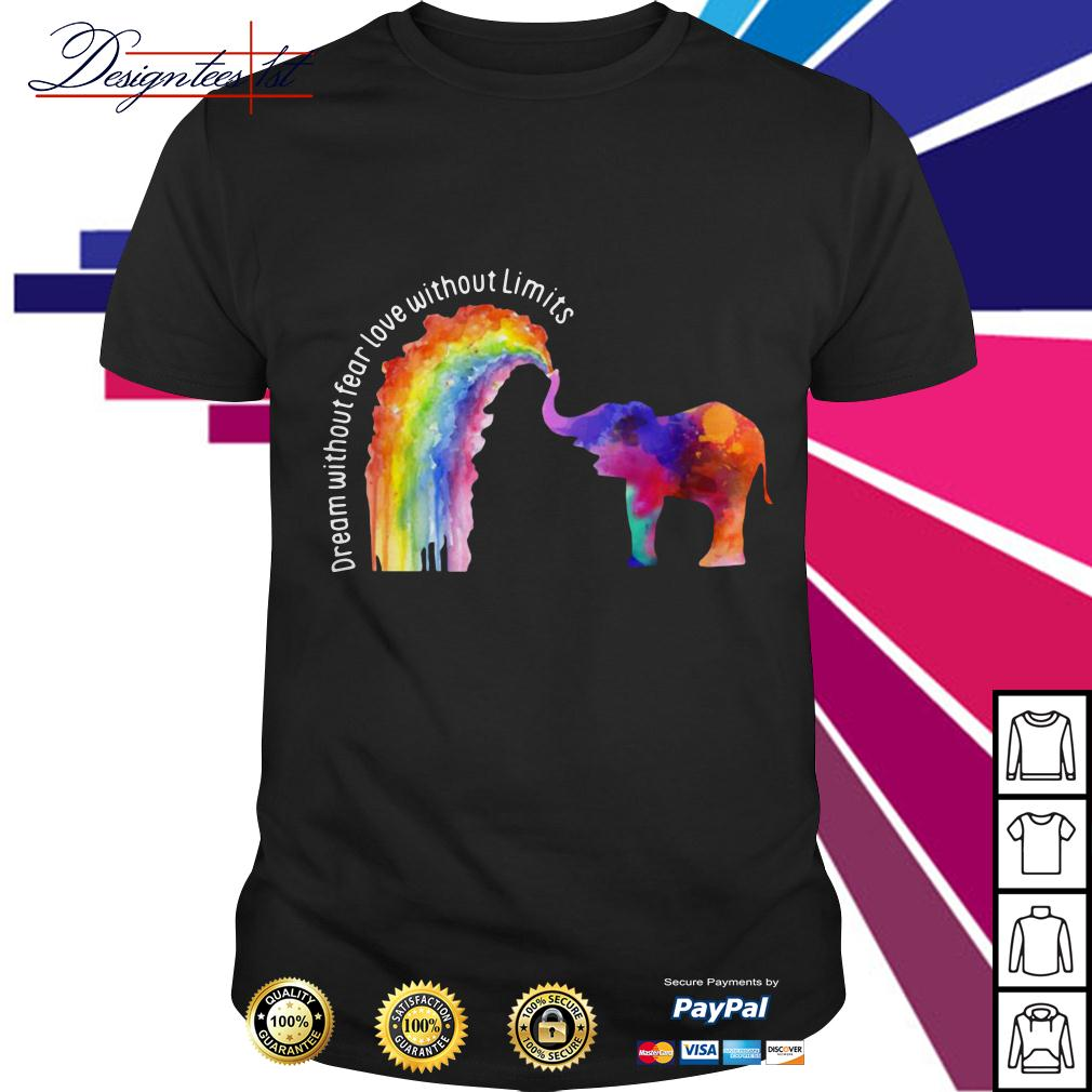LGBT elephant dream without fear love without limits shirt