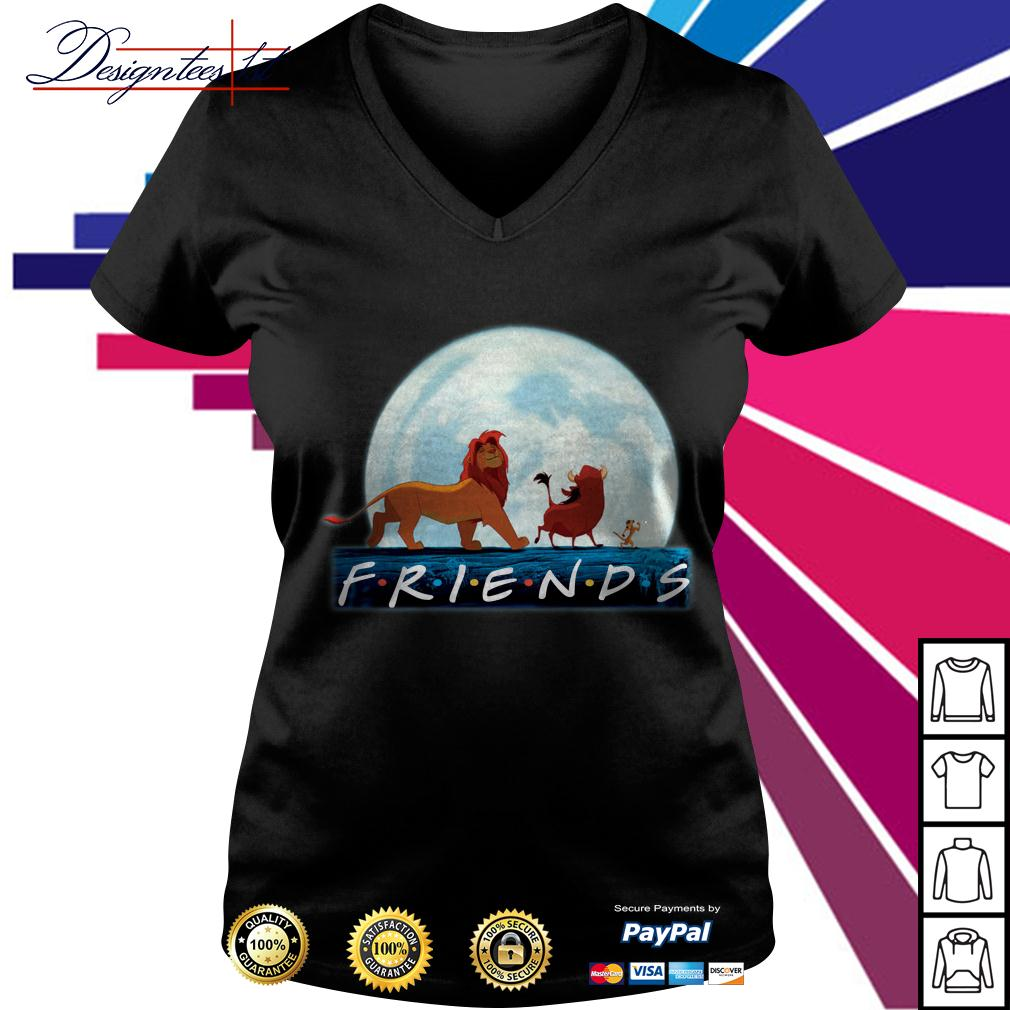 The Lion King friends Simba Pumbaa Hakuna Matata V-neck T-shirt