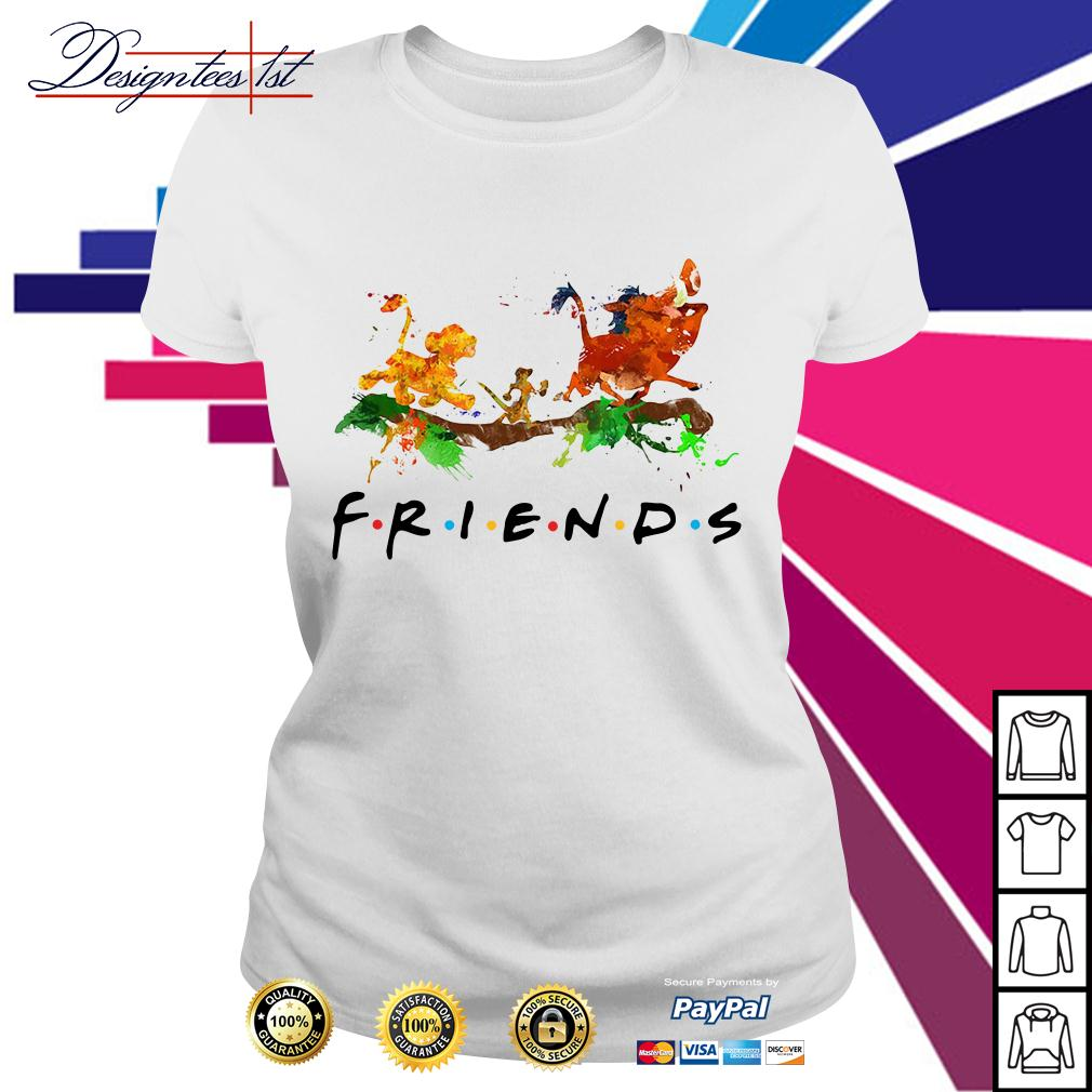 The Lion King Simba Timon Pumbaa friends color Ladies Tee