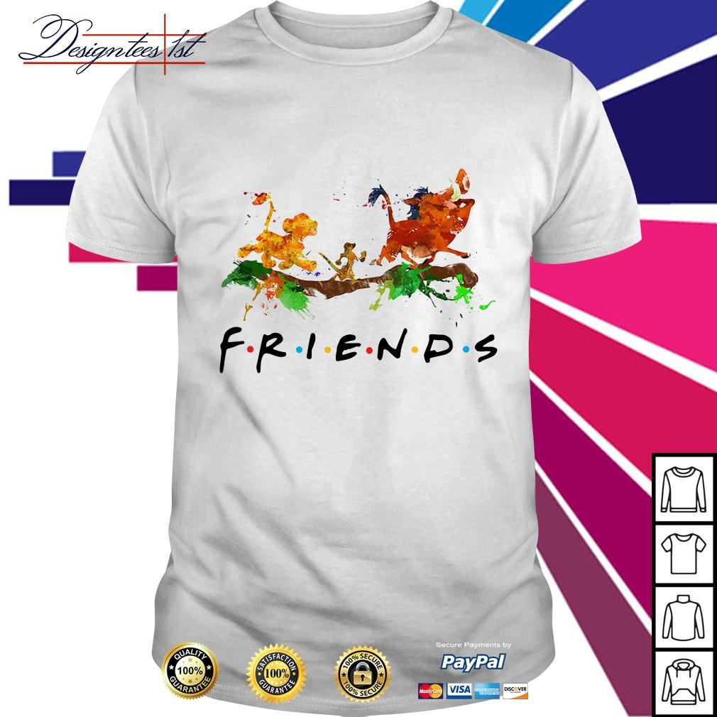 The Lion King Simba Timon Pumbaa friends color shirt