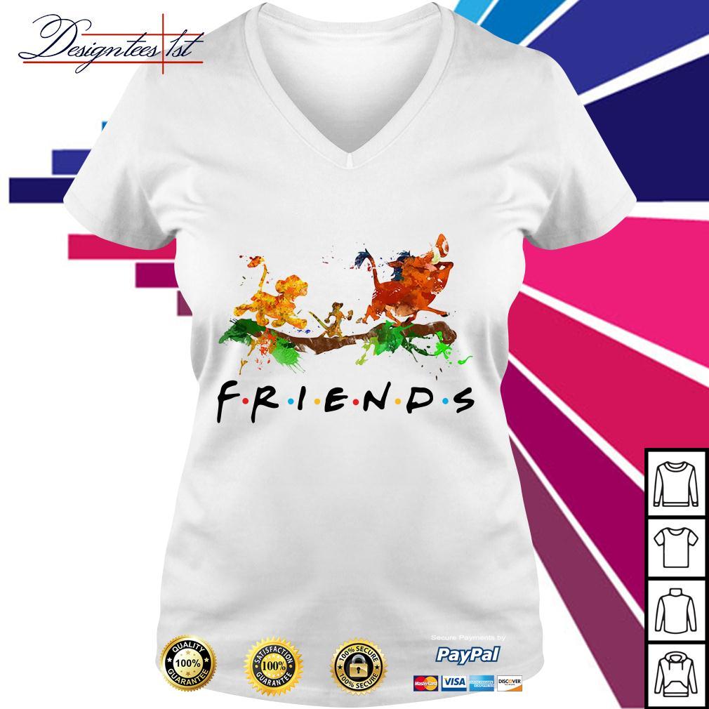 The Lion King Simba Timon Pumbaa friends color V-neck T-shirt
