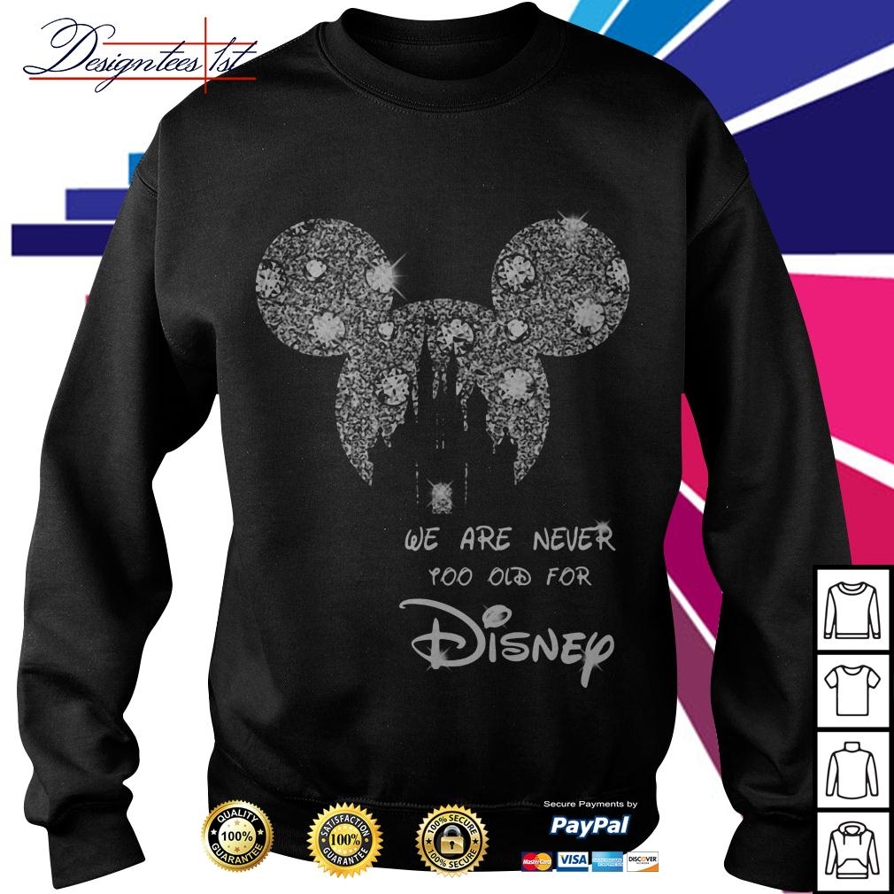 Mickey mouse bling we are never too old for Disney Sweater
