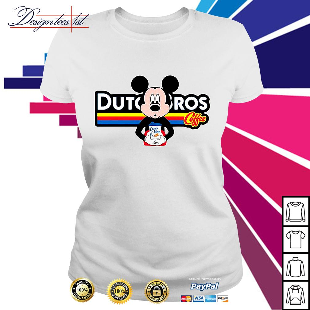 Mickey mouse drink dutch bros coffee Ladies Tee
