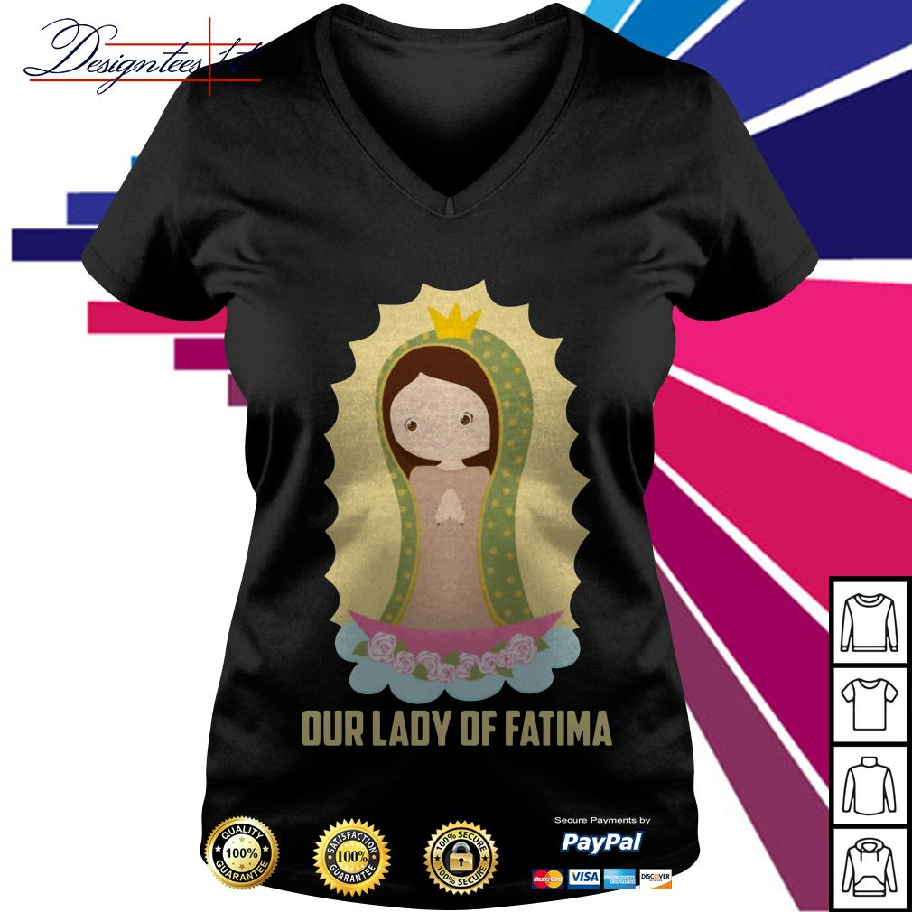 Our lady of Fatima V-neck T-shirt