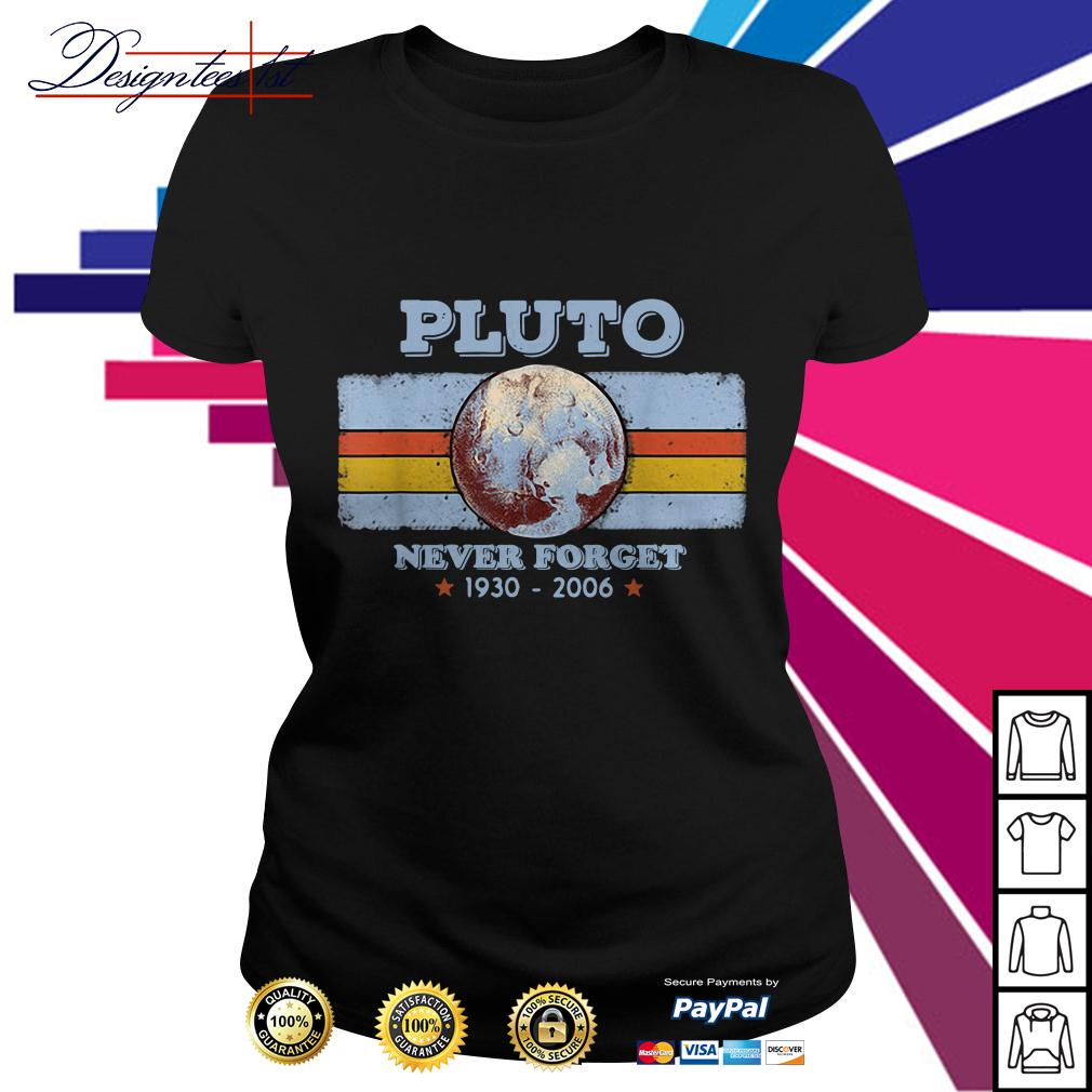 Planet Pluto never forget 1930-2006 Ladies Tee