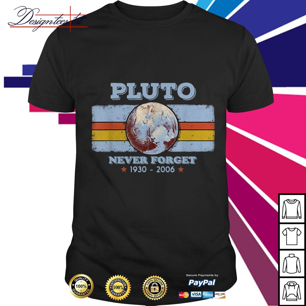 Planet Pluto never forget 1930-2006 shirt