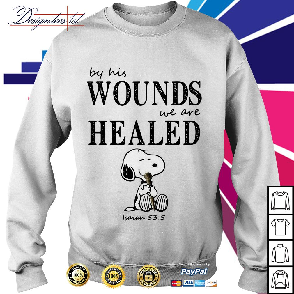Snoopy by his wounds we are healed Sweater