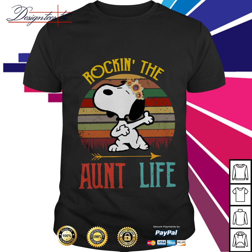 Snoopy rockin' the aunt life vintage shirt