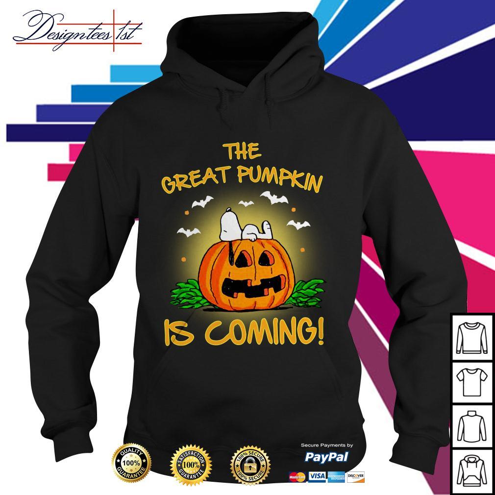 Snoopy the great pumpkin is coming Hoodie