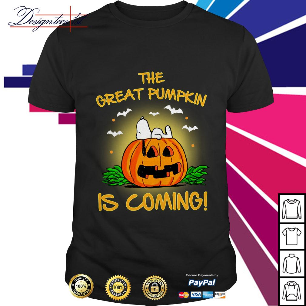 Snoopy the great pumpkin is coming shirt