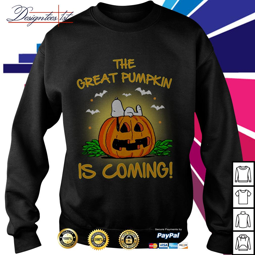 Snoopy the great pumpkin is coming Sweater
