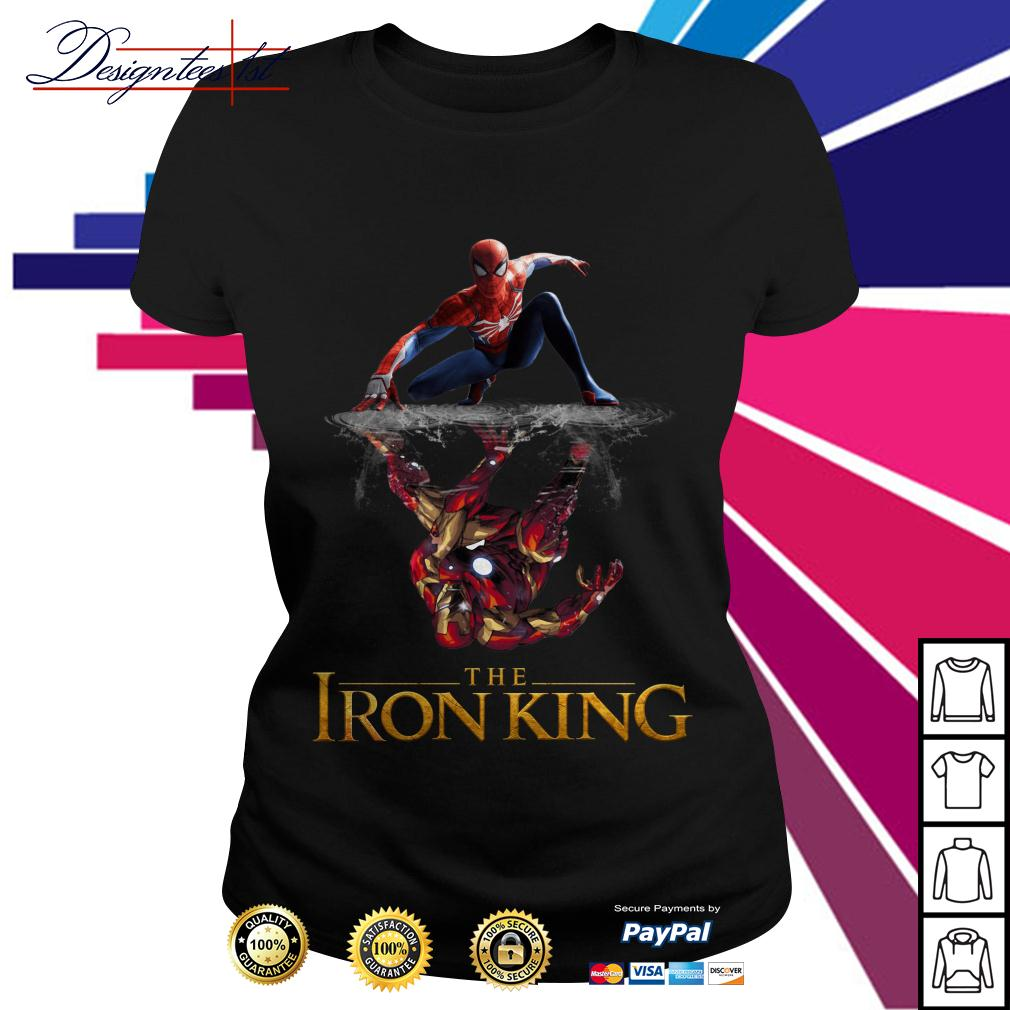 Spider-Man reflection Iron Man The Iron King Ladies Tee