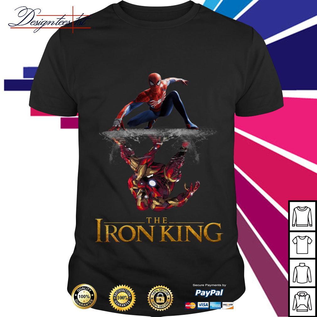 Spider-Man reflection Iron Man The Iron King shirt