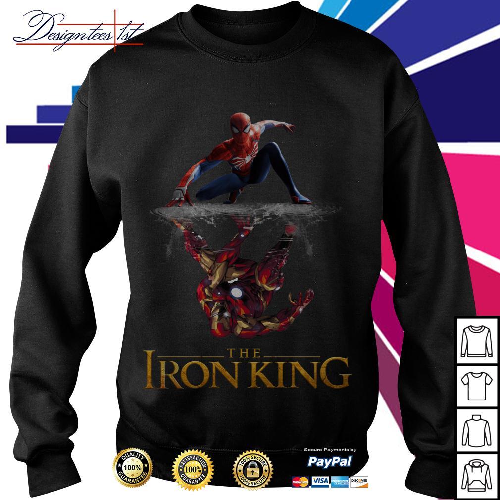 Spider-Man reflection Iron Man The Iron King Sweater