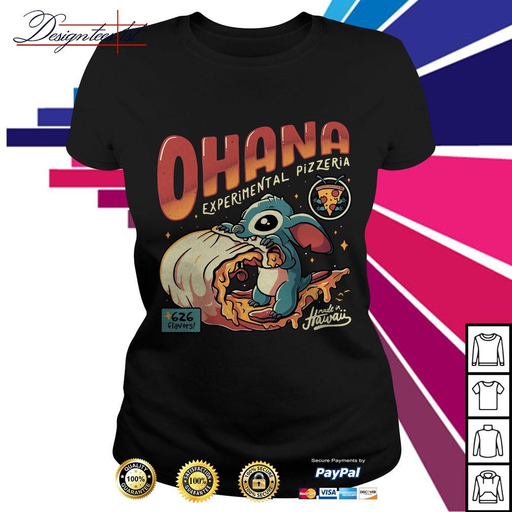 Stitch Ohana experimental pizzeria 626 flavors Hawaii Ladies Tee