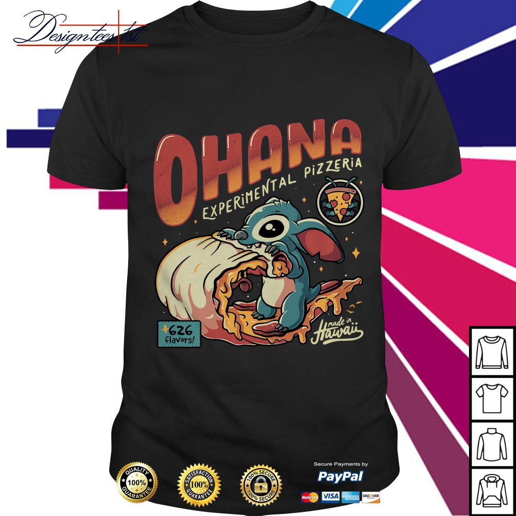 Stitch Ohana experimental pizzeria 626 flavors Hawaii shirt