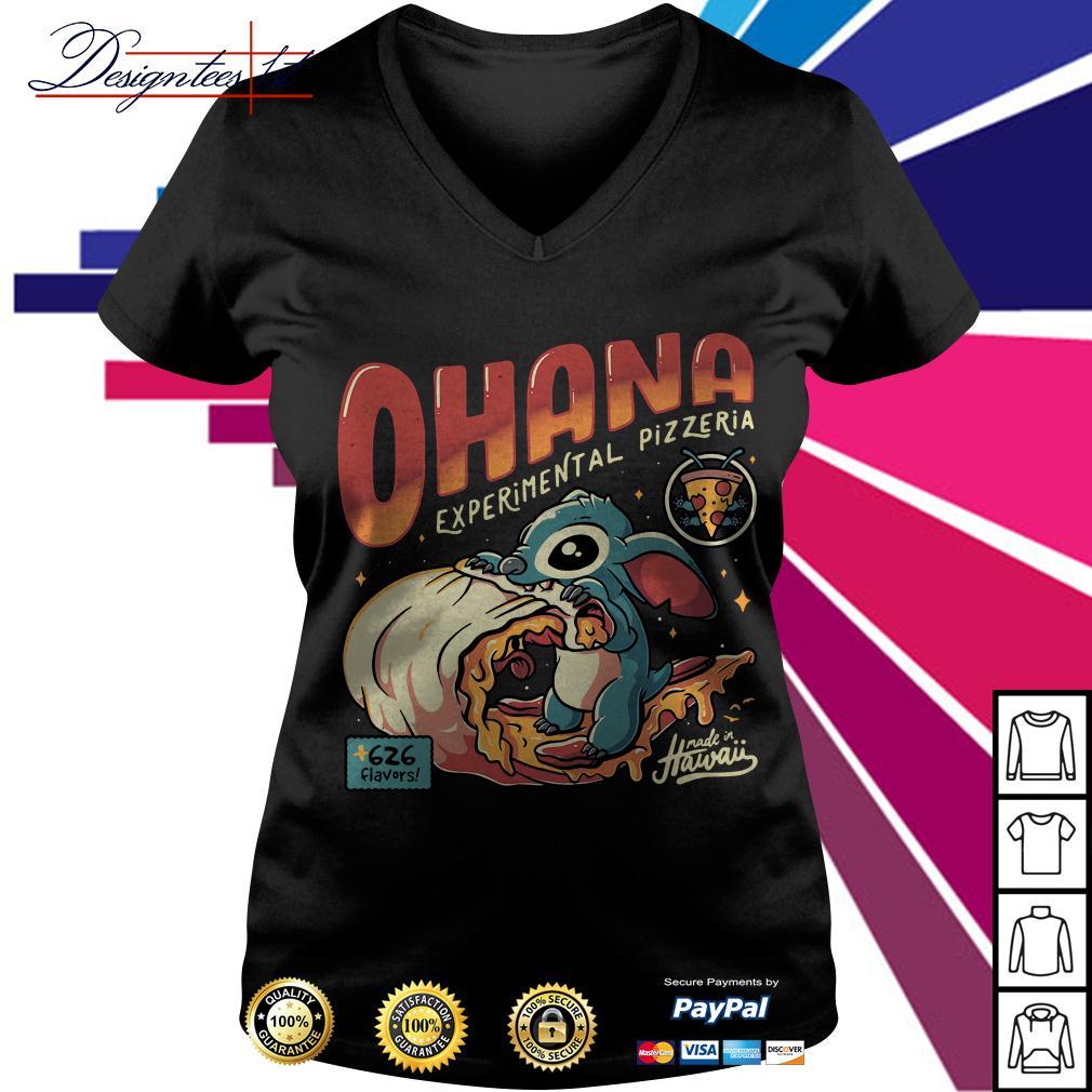 Stitch Ohana experimental pizzeria 626 flavors Hawaii V-neck T-shirt