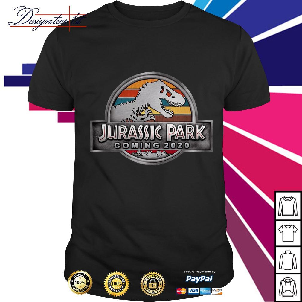 T-Rex Jurassic park coming 2020 vintage shirt