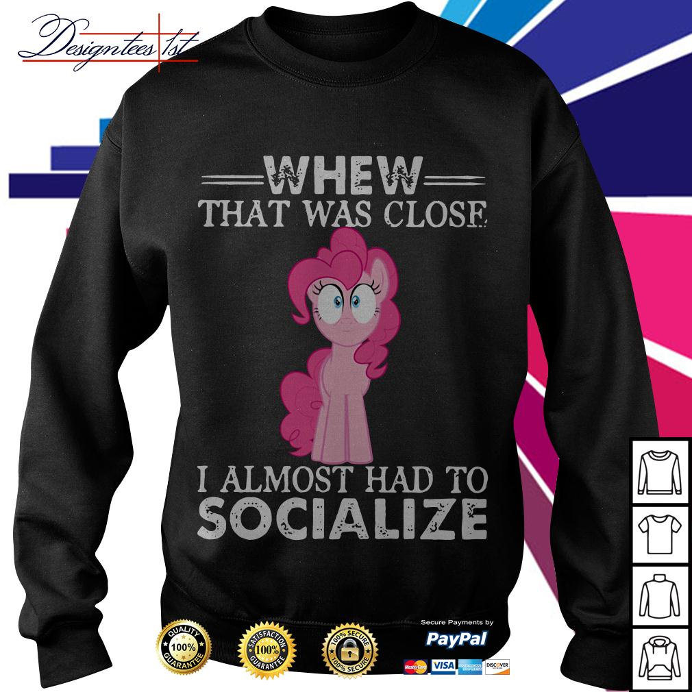 Unicorn whew that was close I almost had to socialize Sweater