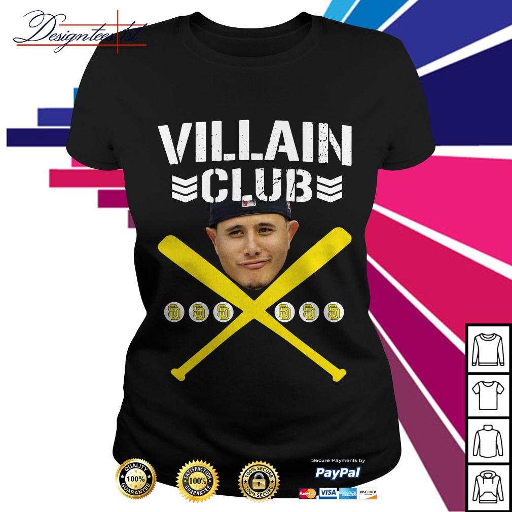 Villain Club Manny Machado San Diego Padres Ladies Tee