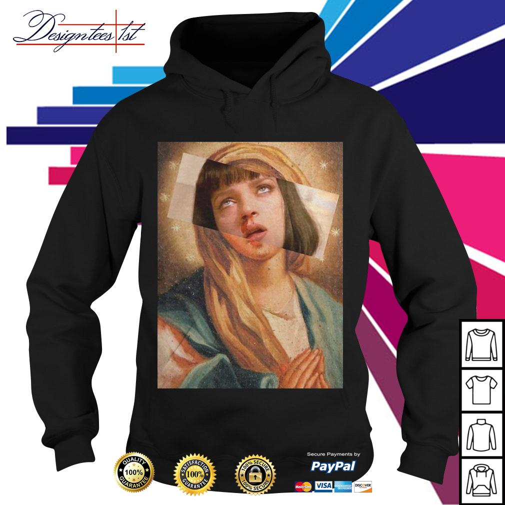 Virgin Mary mixed Pulp Fiction Hoodie