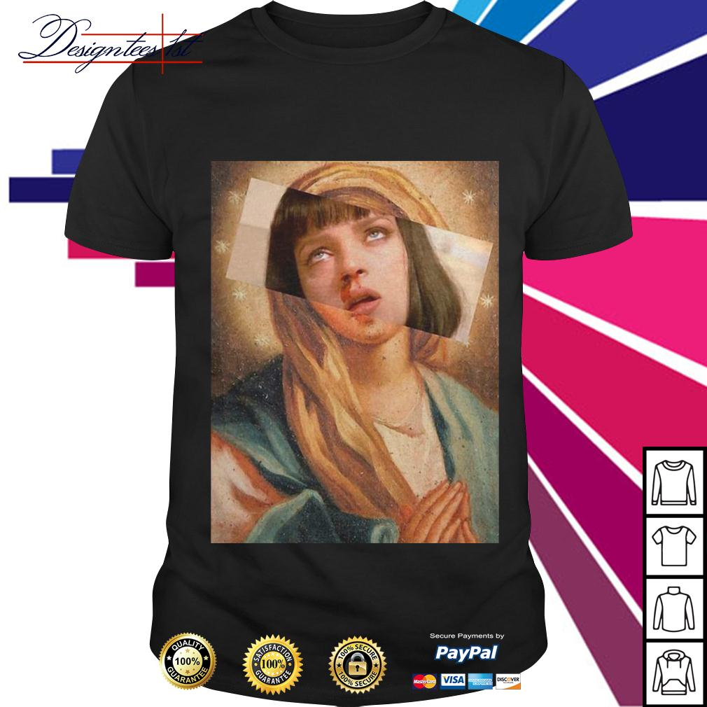 Virgin Mary mixed Pulp Fiction shirt