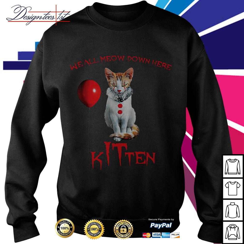 We all meow down here Kitten Horror Sweater