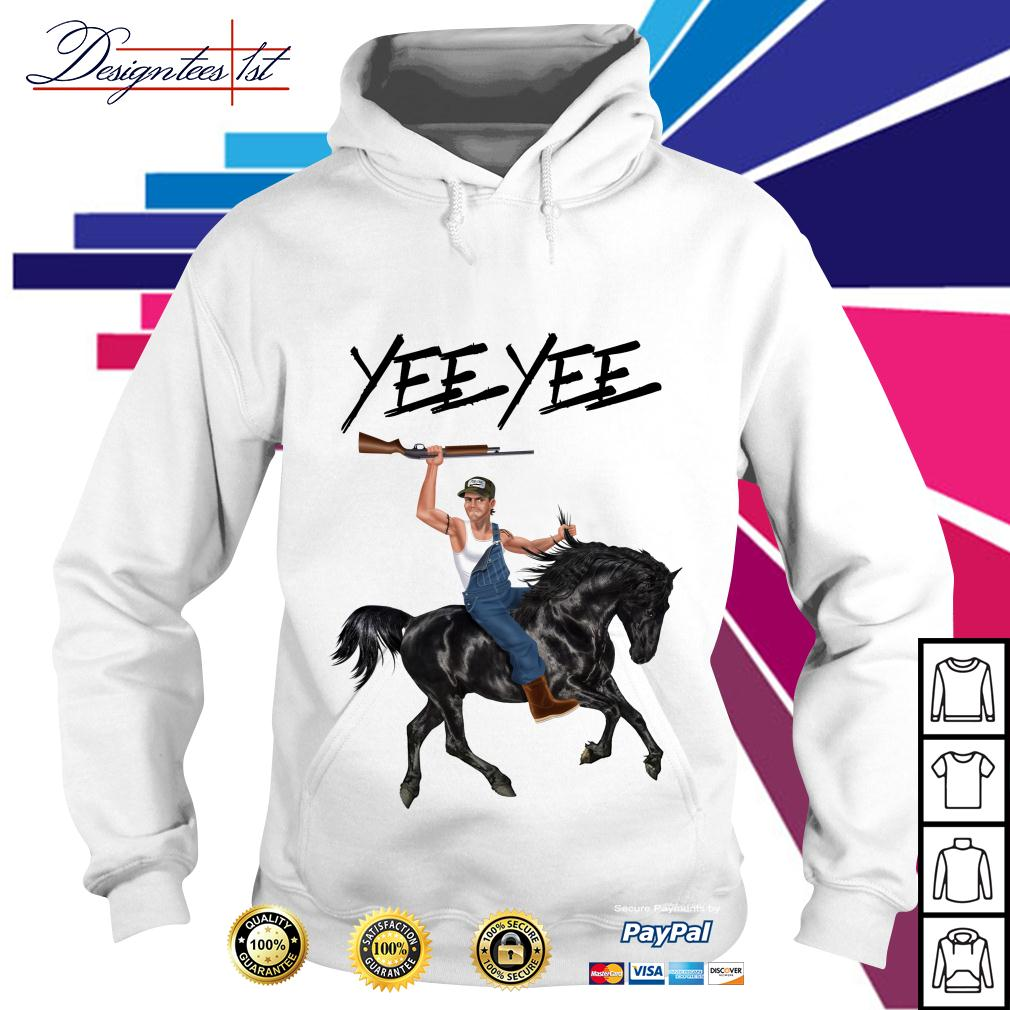 Yee Yee Granger Smith riding horse with hold gun Hoodie