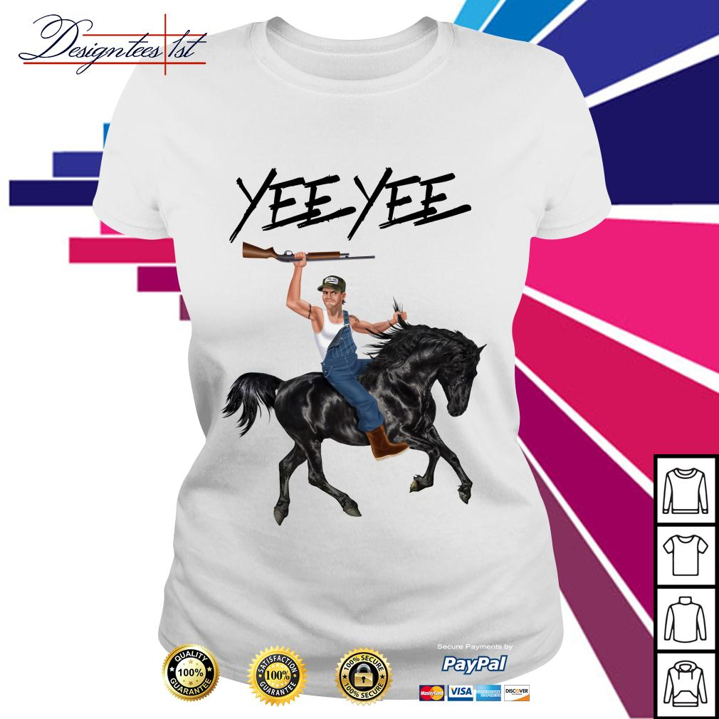 Yee Yee Granger Smith riding horse with hold gun Ladies Tee