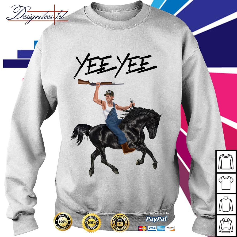 Yee Yee Granger Smith riding horse with hold gun Sweater